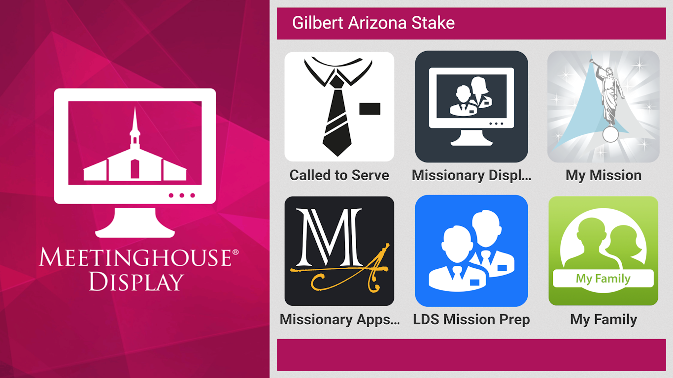 Our Meetinghouse Display locks down your display and limits user access to specific apps.